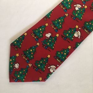 "Peanuts ""'Tis the Season"" Silk Christmas Necktie"